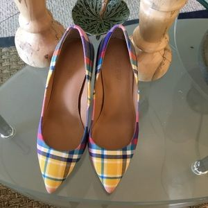 Bright Plaid Pumps